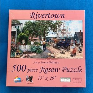 SunsOut Rivertown Puzzle 500 Pieces Made in USA